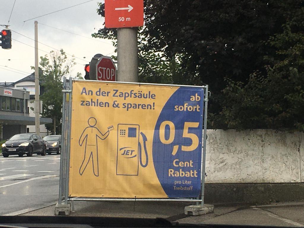 JET 0,5 cent/liter sparen bei Kartenzahlung