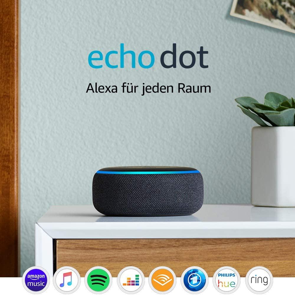 Echo Dot (3. Gen.) Intelligenter Lautsprecher