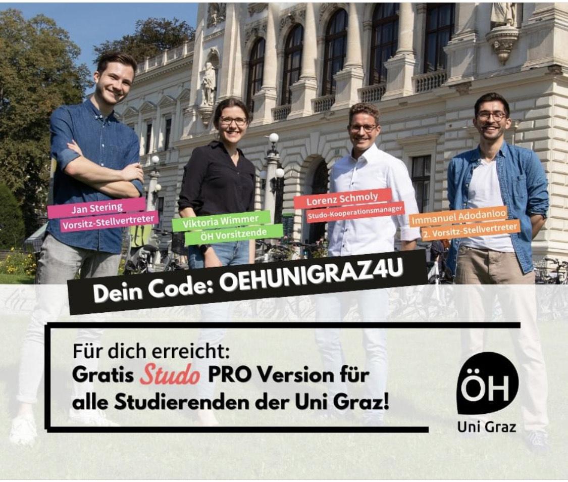 Studo Pro für KF Uni Graz kostenlos