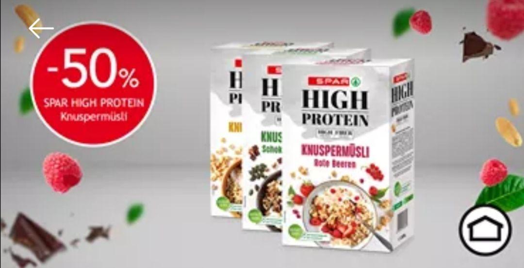[SPAR] -50 %-Gutschein für High Protein Knuspermüsli
