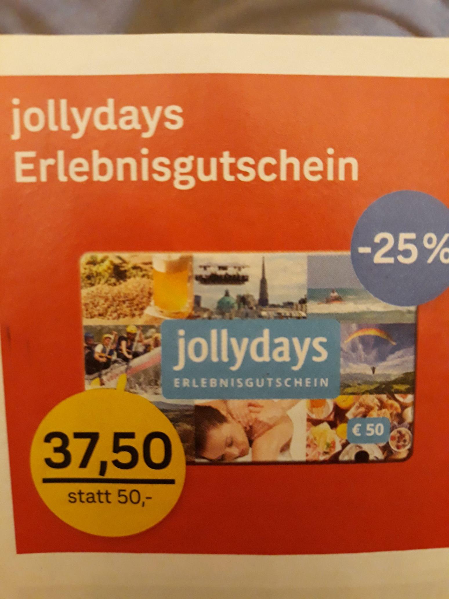 POST - Jollydays Erlebnisgutschein