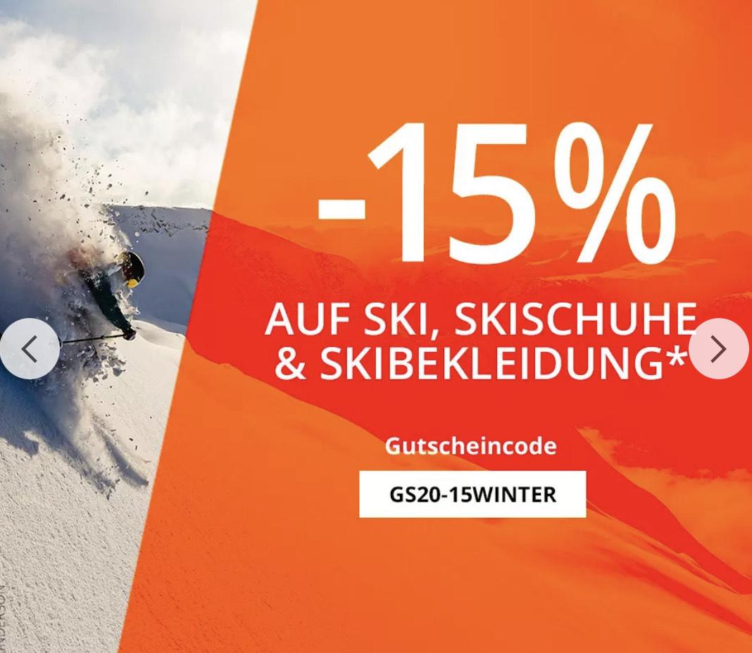 Gutscheincode für Ski, Skischuhe und Skibekleidung