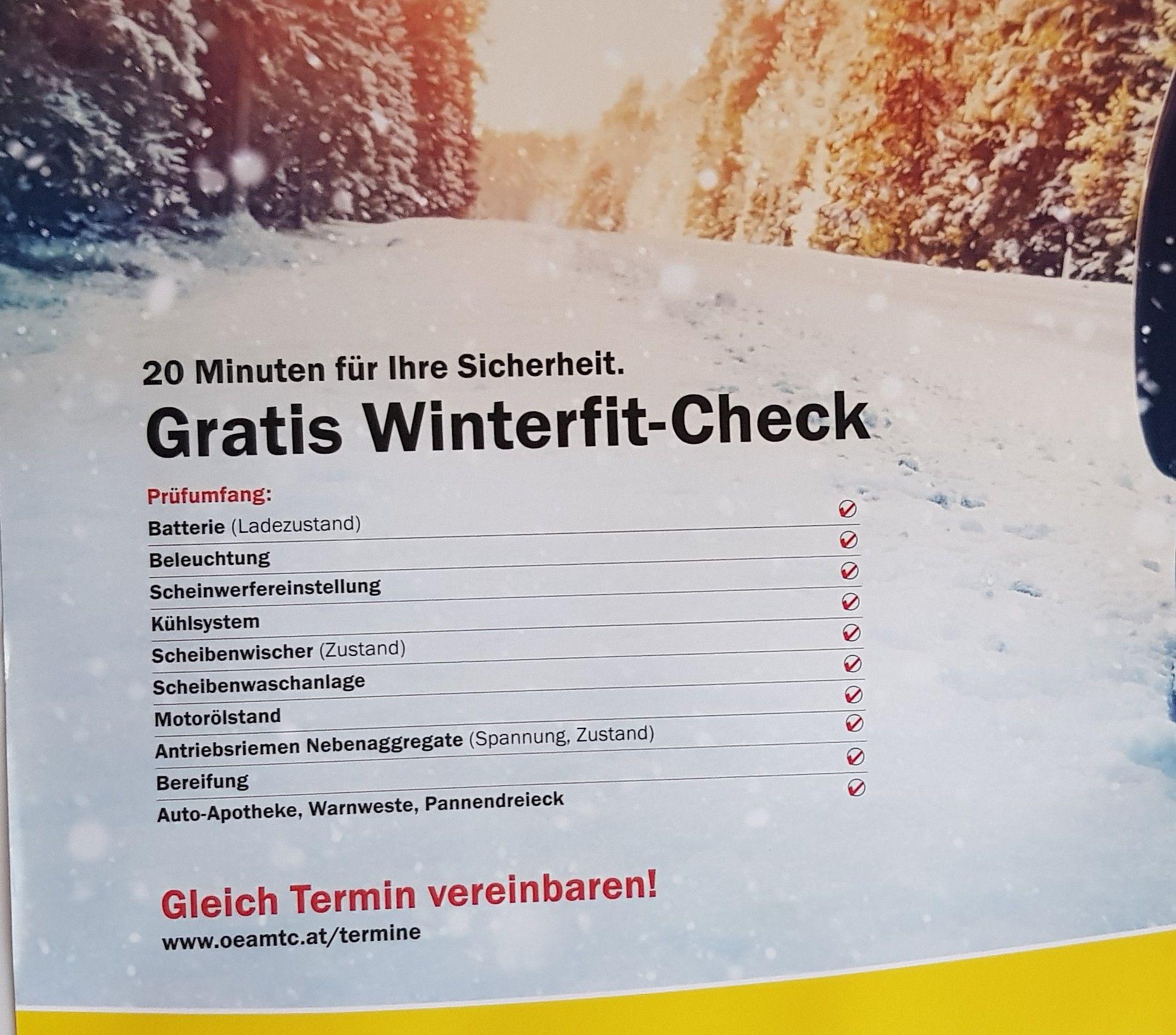 ÖAMTC Gratis Winterfit-Check