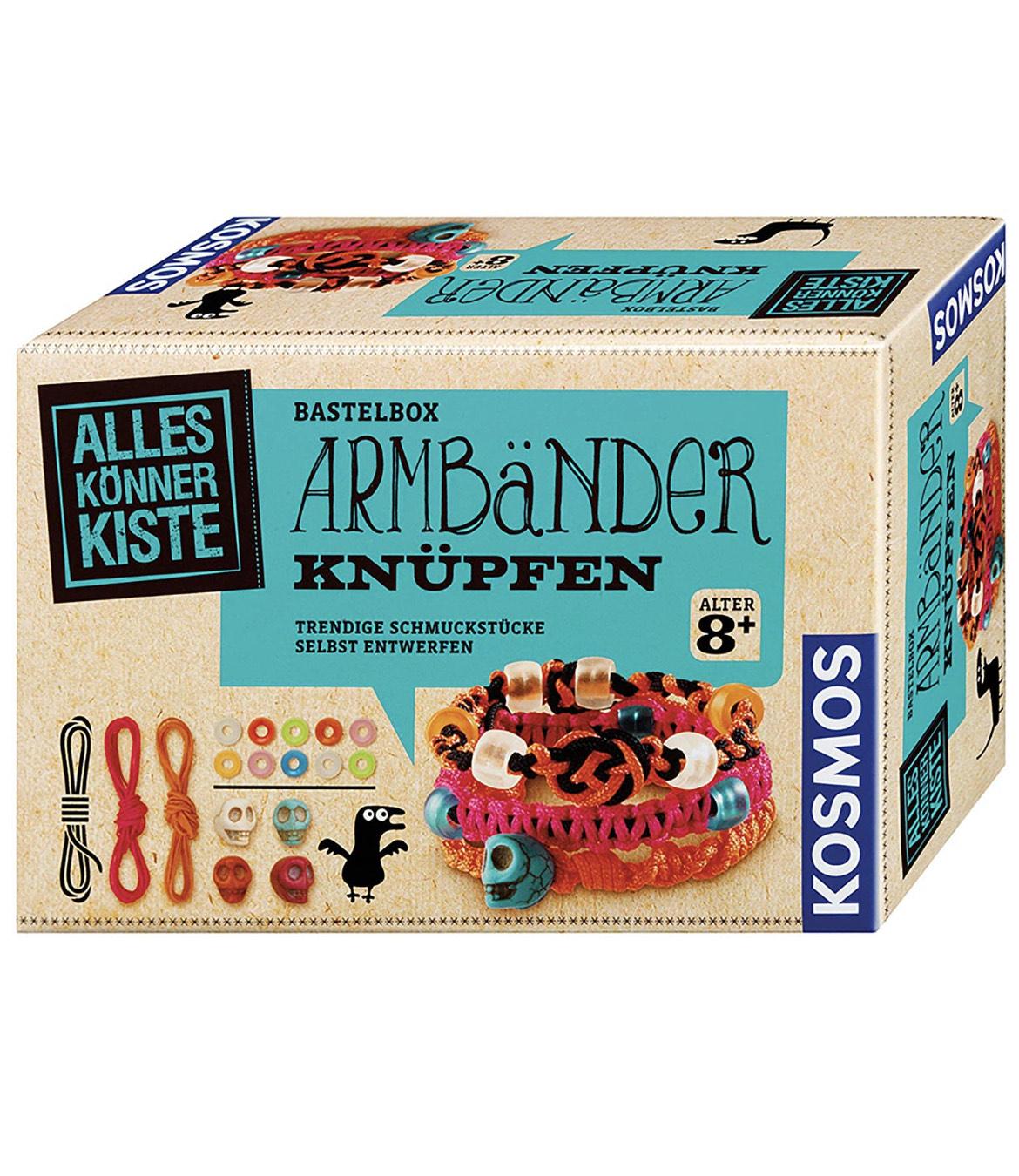KOSMOS 604158 - AllesKönnerKiste Armbänder, DIY-Bastelset