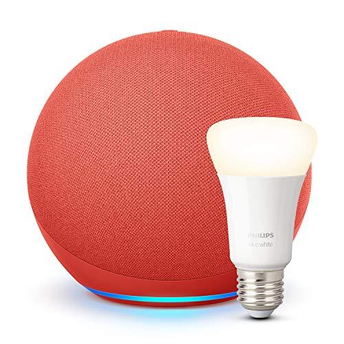 Amazon Echo (nicht Echo Dot ;) 4. Gen (Product Red) + Philips Hue E27 LED