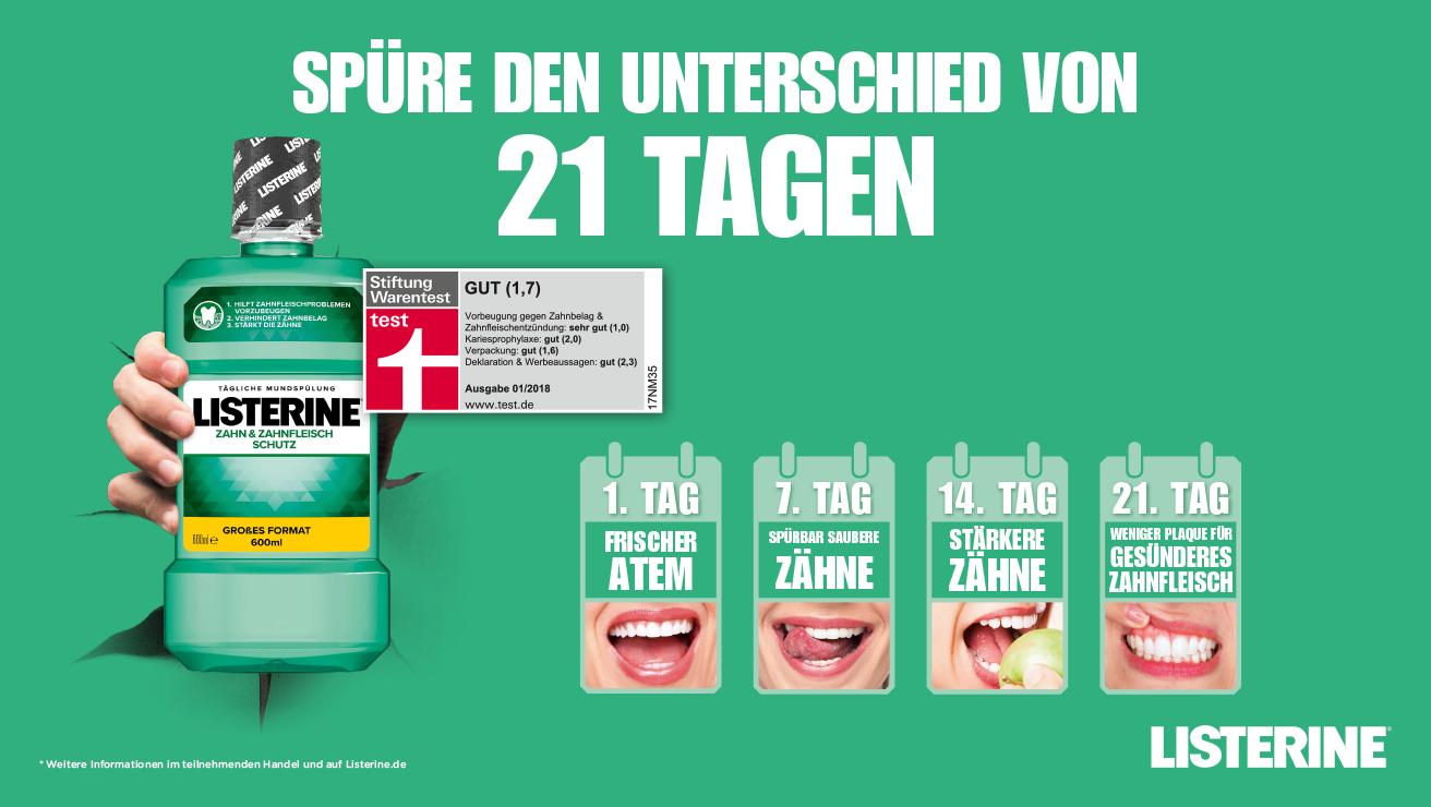 DIE LISTERINE® 21 TAGE CHALLENGE - Geld zurück - neuer Aktionszeitraum