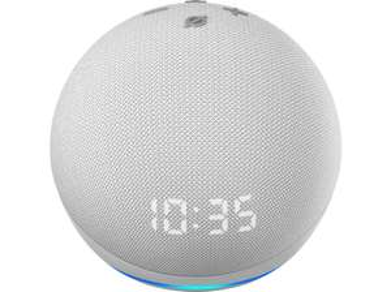 Amazon Echo Dot (4.Generation, weiß, mit LED Display + Uhr)