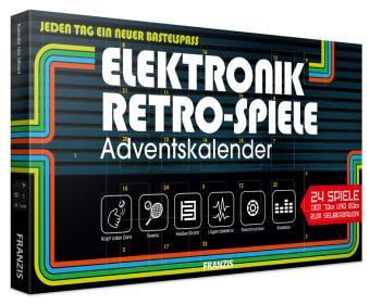 FRANZIS Elektronik Retro Spiele Adventkalender 2020   24 Spiele der 70er und 80er zum Selberbauen ohne Löten