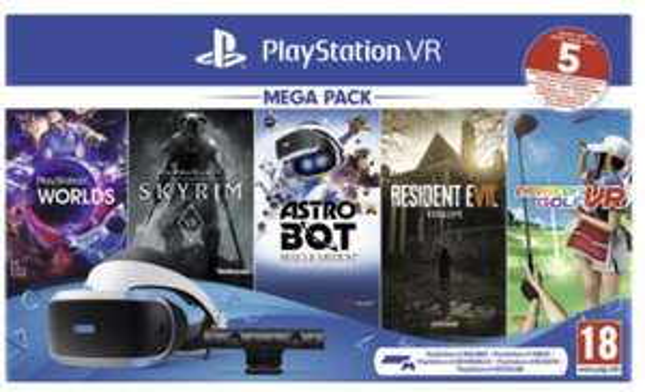 Sony PlayStation VR Megapack 2 inkl. PS Kamera und 5 VR-Spiele als DLC