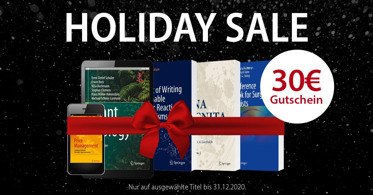 Springer Buchshop: 30€ Rabatt ab 45€ Einkaufswert auf über 190.000 Englischsprachige Bücher & eBooks