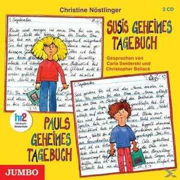 Nöstlinger - Susis geheimes Tagebuch/ Pauls geheimes Tagebuch - Hörbuch 2 CDs