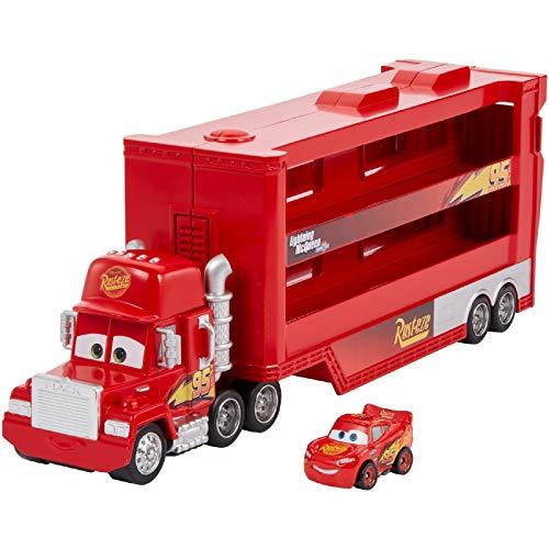 Disney Pixar Cars Mini Racer - Transporter mit Mini Fahrzeug (Disney Cars GNW34)