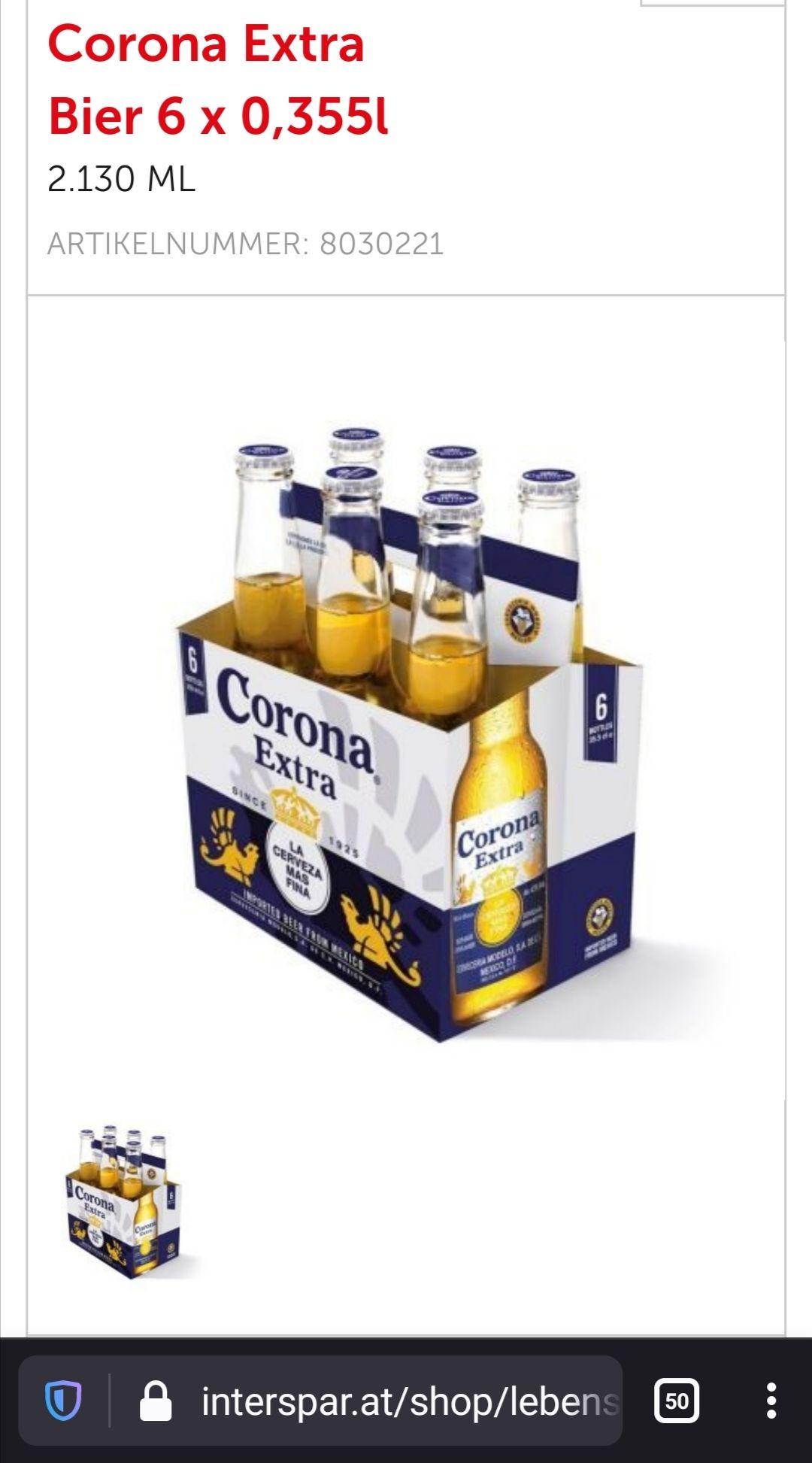 *Spar Corona Extra 6er Tray 1+1 gratis