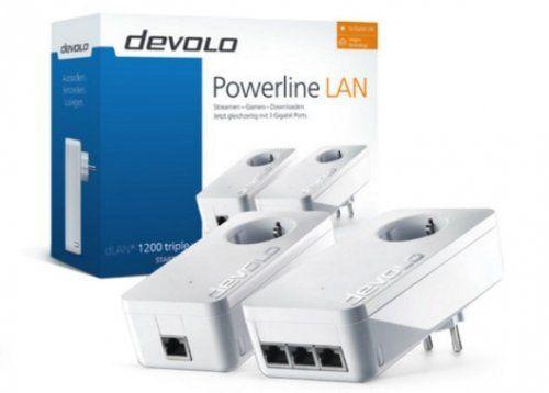 PREISFEHLER Devolo dLAN 1200 triple+ Starter Kit 1200 Mbit/s Eingebauter Ethernet-Anschluss WLAN Weiß 2 Stück(e) ( 9907