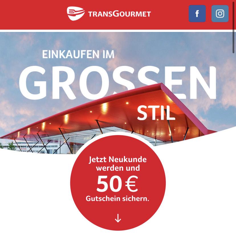 Transgourmet - 50€ Gutschein für Selbständige - ab 100€ Einkaufswert