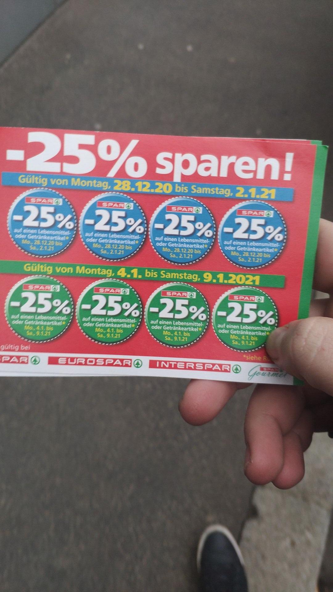 SPAR -25% Pickerl in der heutigen Kronen Zeitung