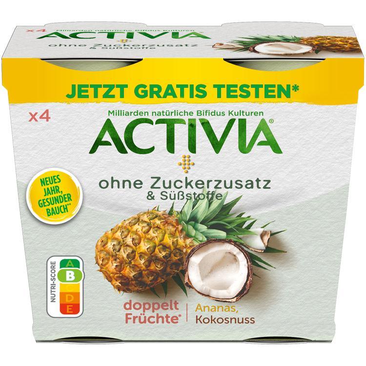 Jetzt ACTIVIA Joghurt Gratis Testen