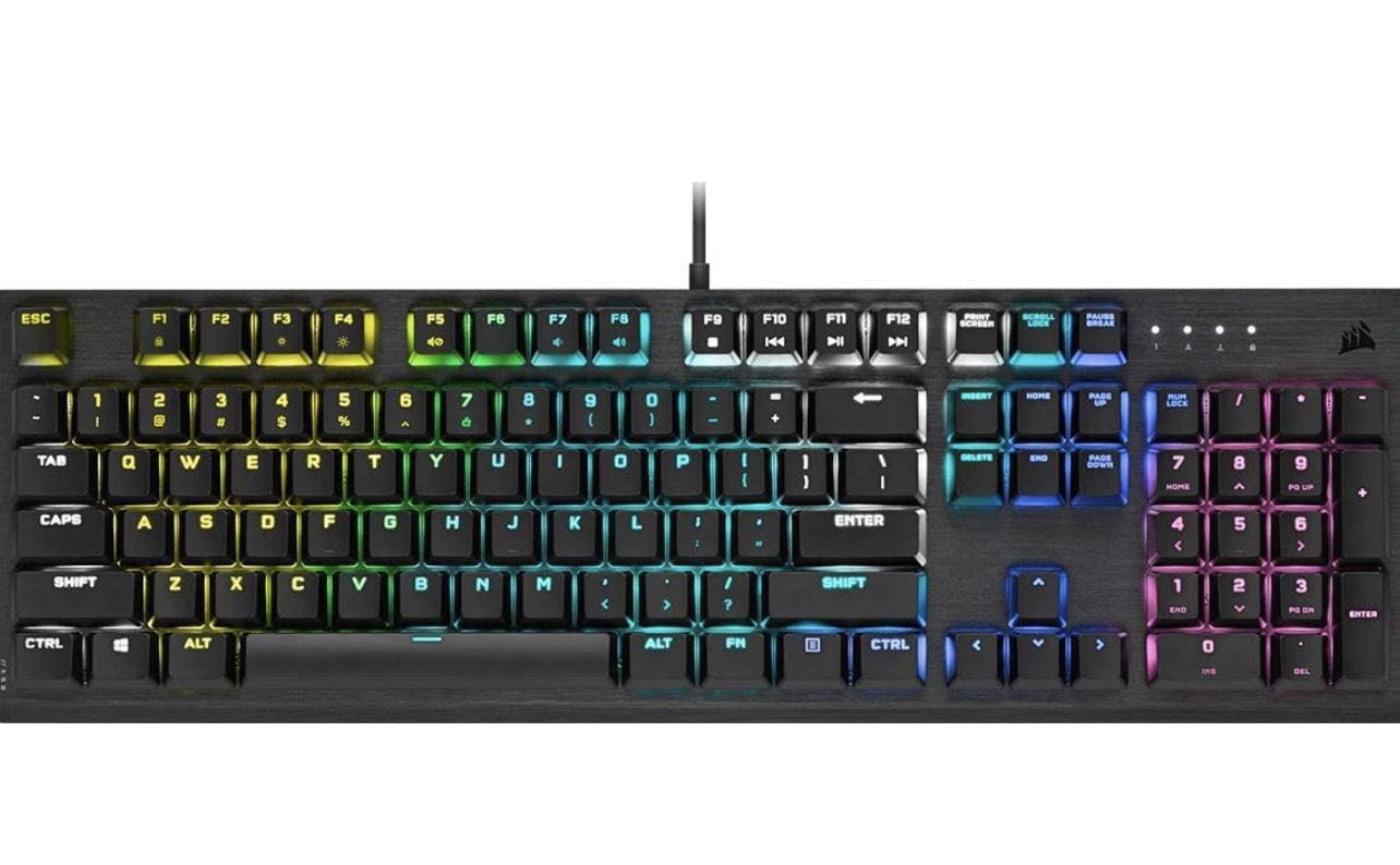 Corsair K60 RGB PRO LOW PROFILE Mechanische Gaming-Tastatur (CHERRY MX Low Profile SPEED Tastenschalter