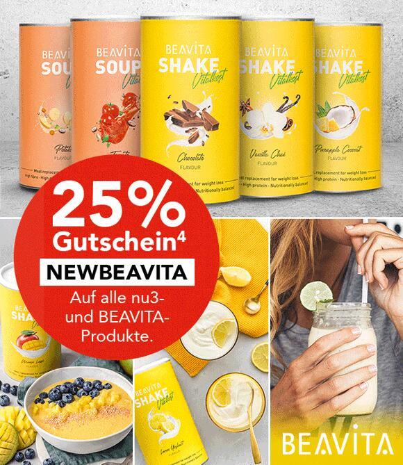 [Shop-Apotheke] 25% Rabatt auf nu3 & BEAVITA