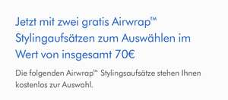 Dyson Airwrap Complete mit 2 Zubehörteilen bis zu 70€ gratis
