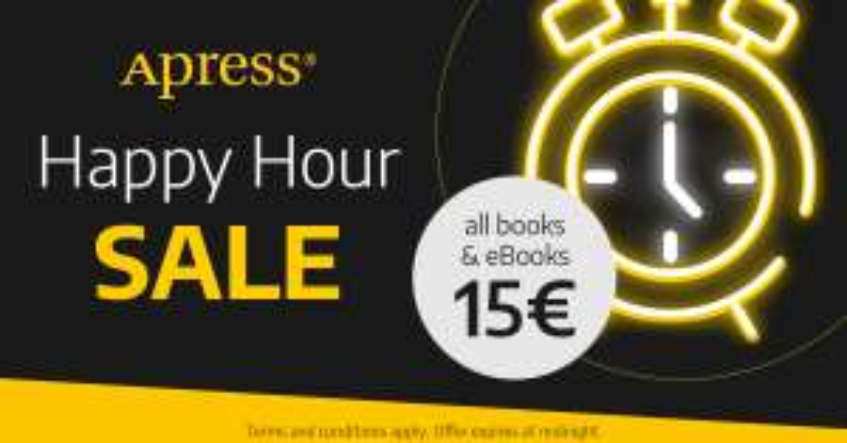 Apress Buchshop: 15€ Gutschein ab 20€ Bestellwert, nur heute