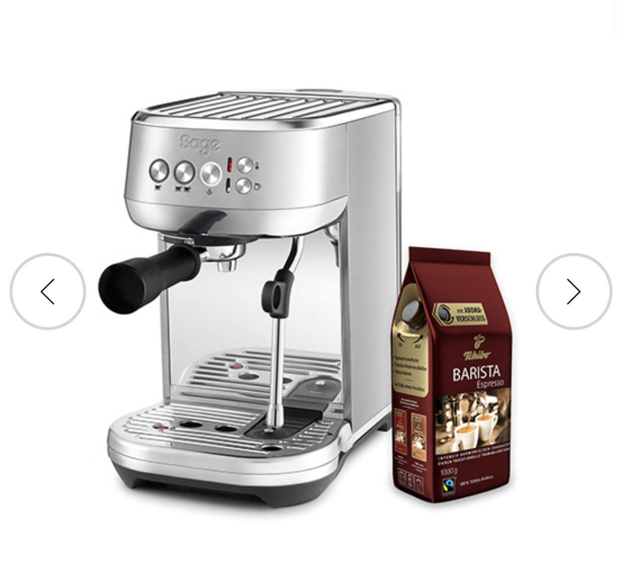 SAGE Bambino Plus & Kaffee