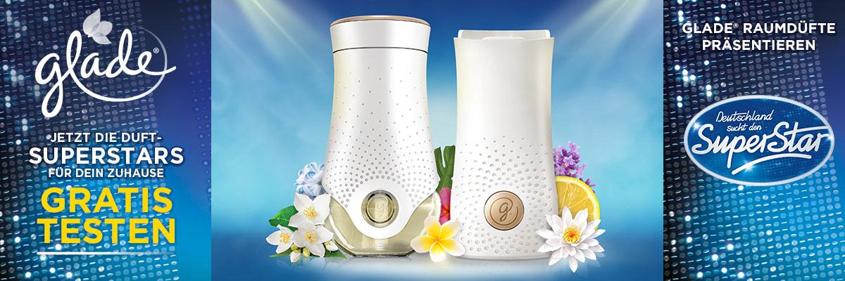 GELD ZURÜCK AKTION GLADE touch & fresh® Halter / electric scented oil Starter-Sets