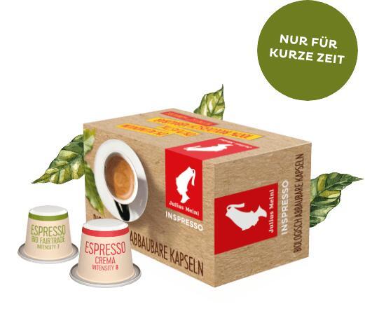 Gratis Nespresso-kompatible Kapseln von Julius Meinl