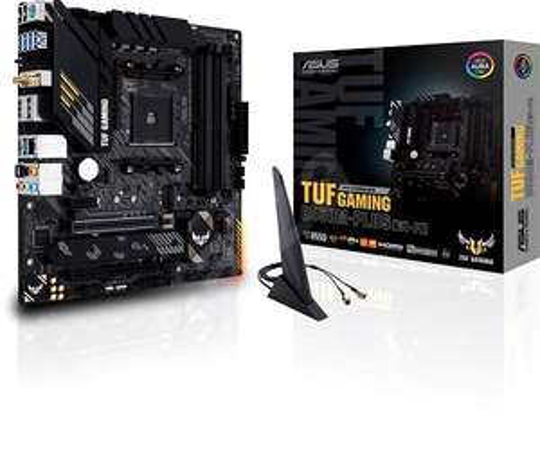 ASUS TUF Gaming B550M-Plus (Wi-Fi) Gaming Mainboard Sockel AM4 mit Wlan - Preis durch offizielles Asus Cashback