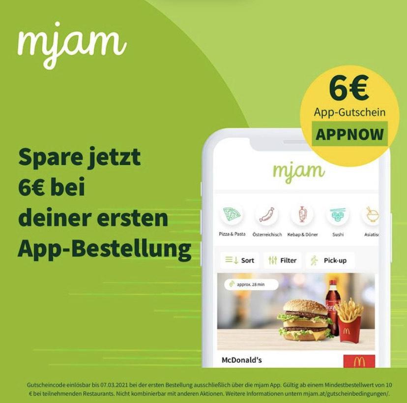 Mjam -6€ Gutschein | auch Bestandskunden (Gutscheinfehler) | MBW 10€