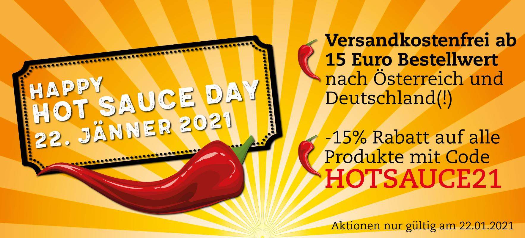 Fireland Foods: Hot Sauce Day, 15% Rabatt und kostenlose Lieferung