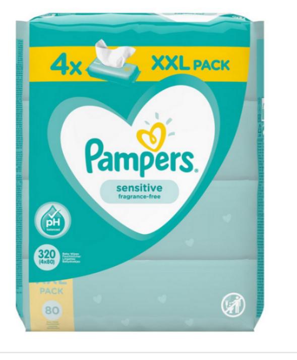 Dm: Pampers XXL Feuchttücher (4er Pack) 2+1 gratis