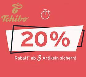 Tchibo / Eduscho: 20% Rabatt ab dem Kauf von 3 Artikel aus dem Prozenteshop