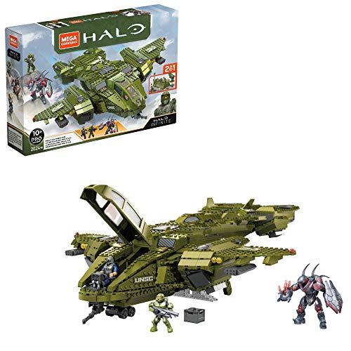 Mega Construx GNB28 Halo Infinite UNSC Pelican-Flugschiff, mit 2024 Bausteinen