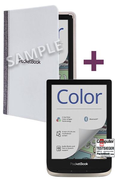 Schnell Sein: Pocketbook Color Farb E-ink Ebookreader + Original Pocketbook Hülle