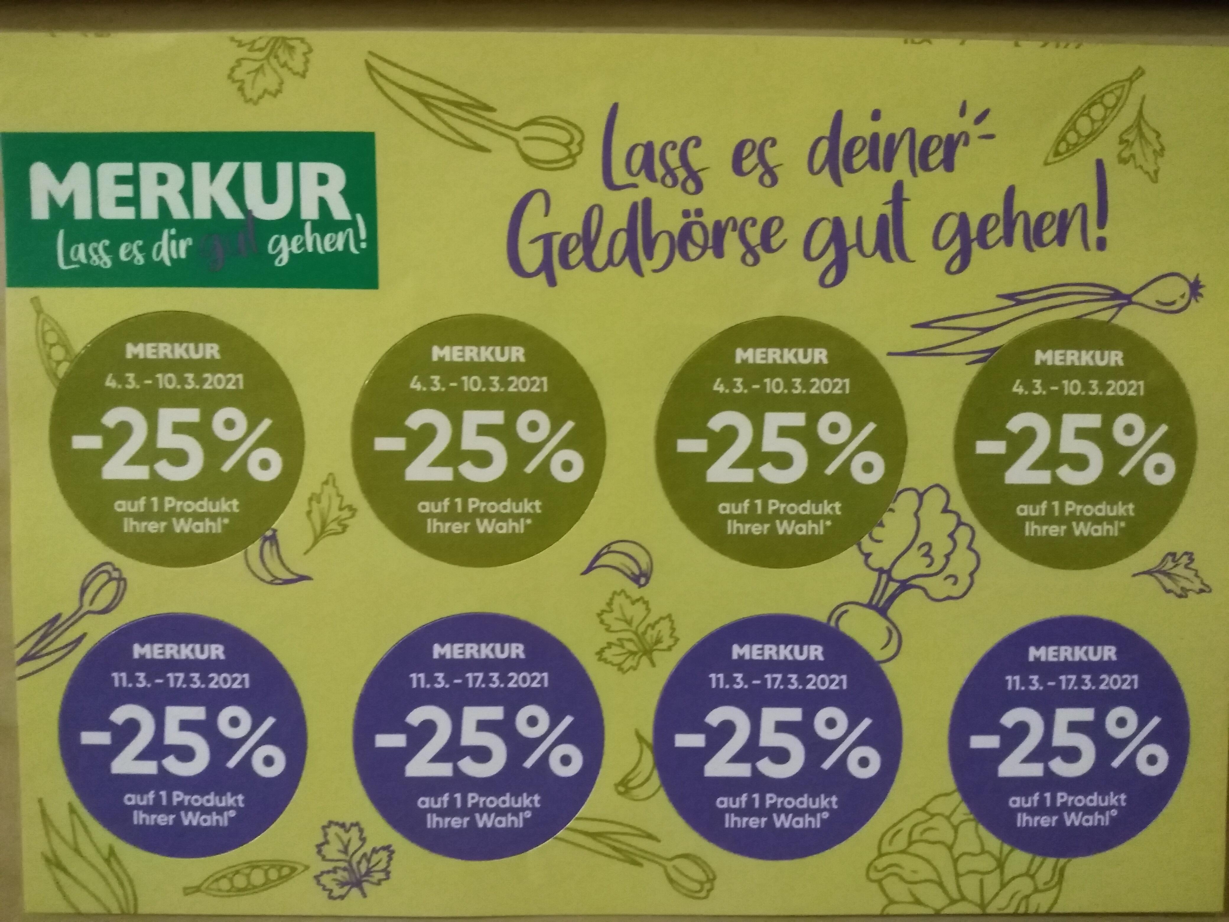 Merkur -25% Rabatt Pickerl