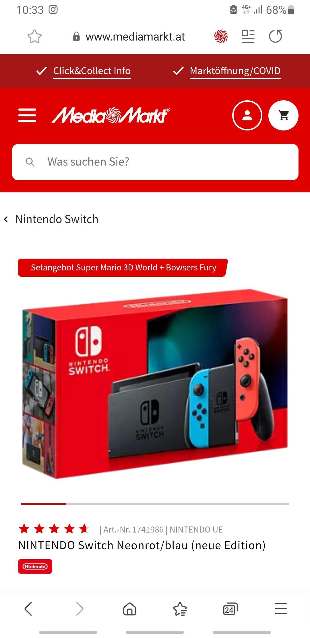 Nintendo Switch Bundle mit Super Mario 3D World + Bowsers Fury