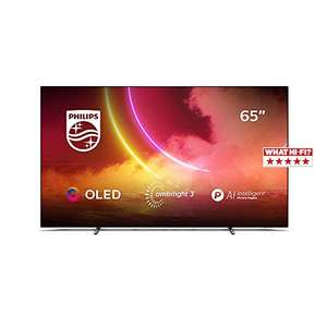 Philips Ambilight TV 65OLED805/12 65-Zoll OLED TV (4K UHD, P5 AI Perfect Picture Engine, Dolby Vision, Dolby Atmos, HDR 10+, Android TV)