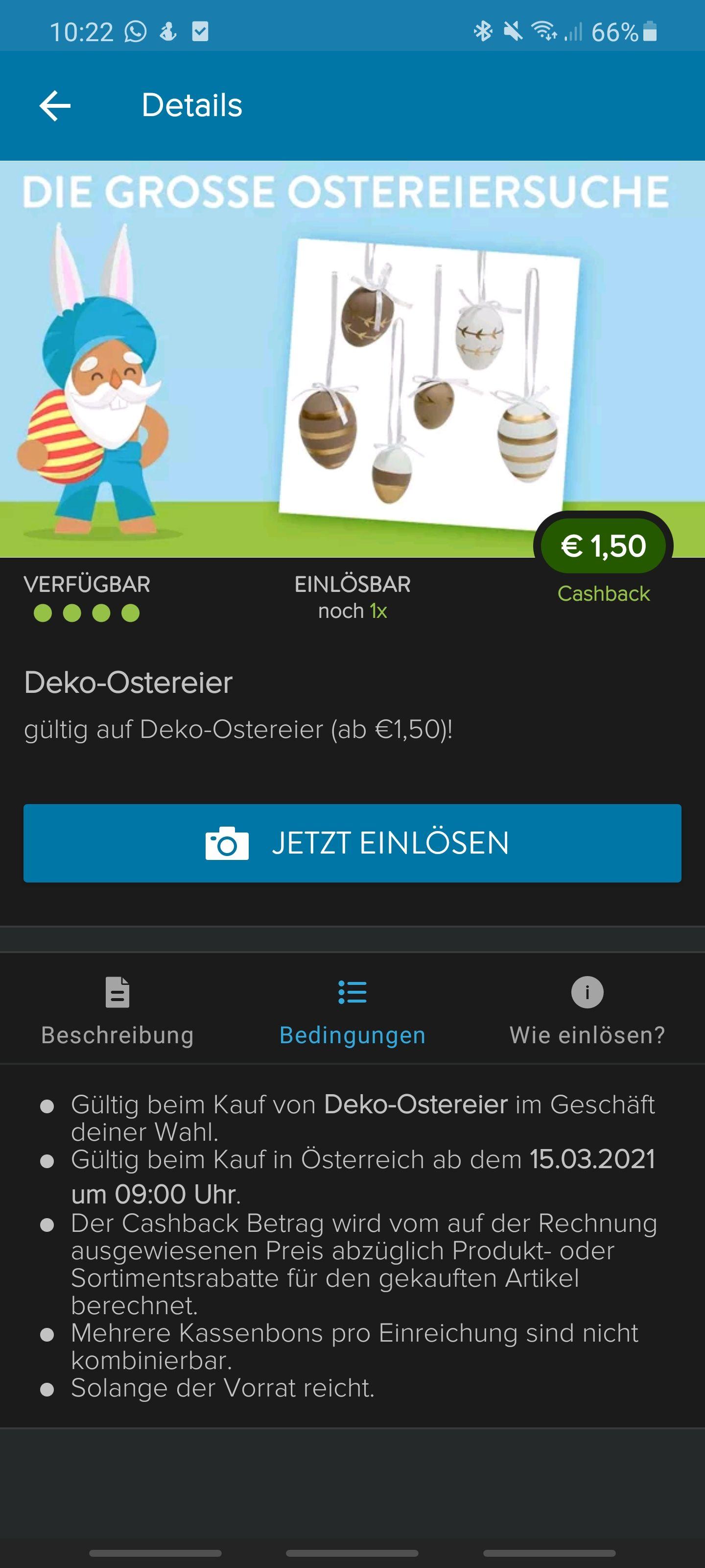 1,50€ Cashback auf Deko-Ostereier mit Marktguru