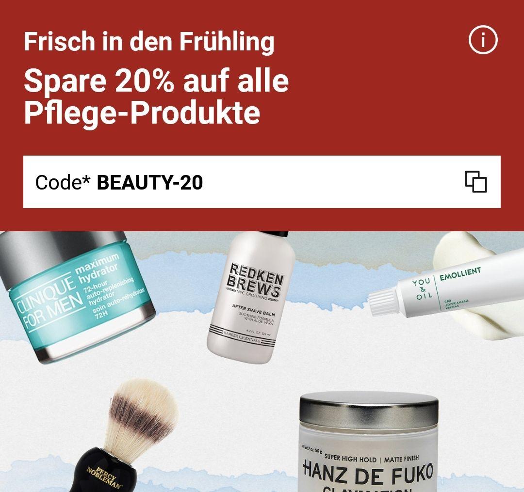 -20% auf alle Beauty Produkte bei Zalando