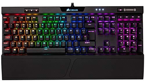 Corsair K70 RGB MK.2 Mechanische Gaming Tastatur (Cherry MX Blue: Präzise und Hörbar) schwarz