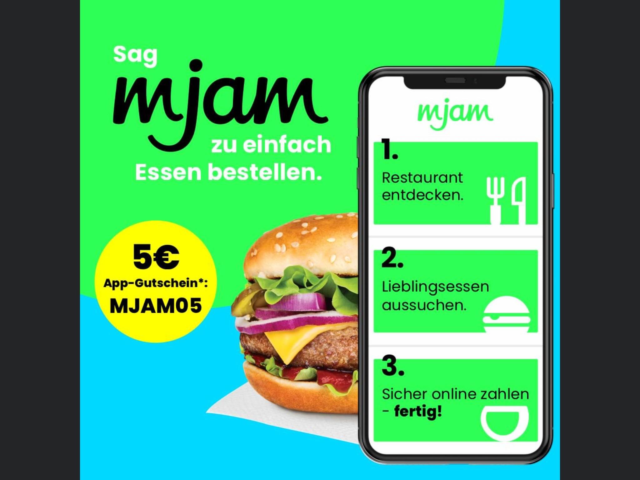 Mjam 5€ Gutschein (lokal in Steyr) in Mjam App