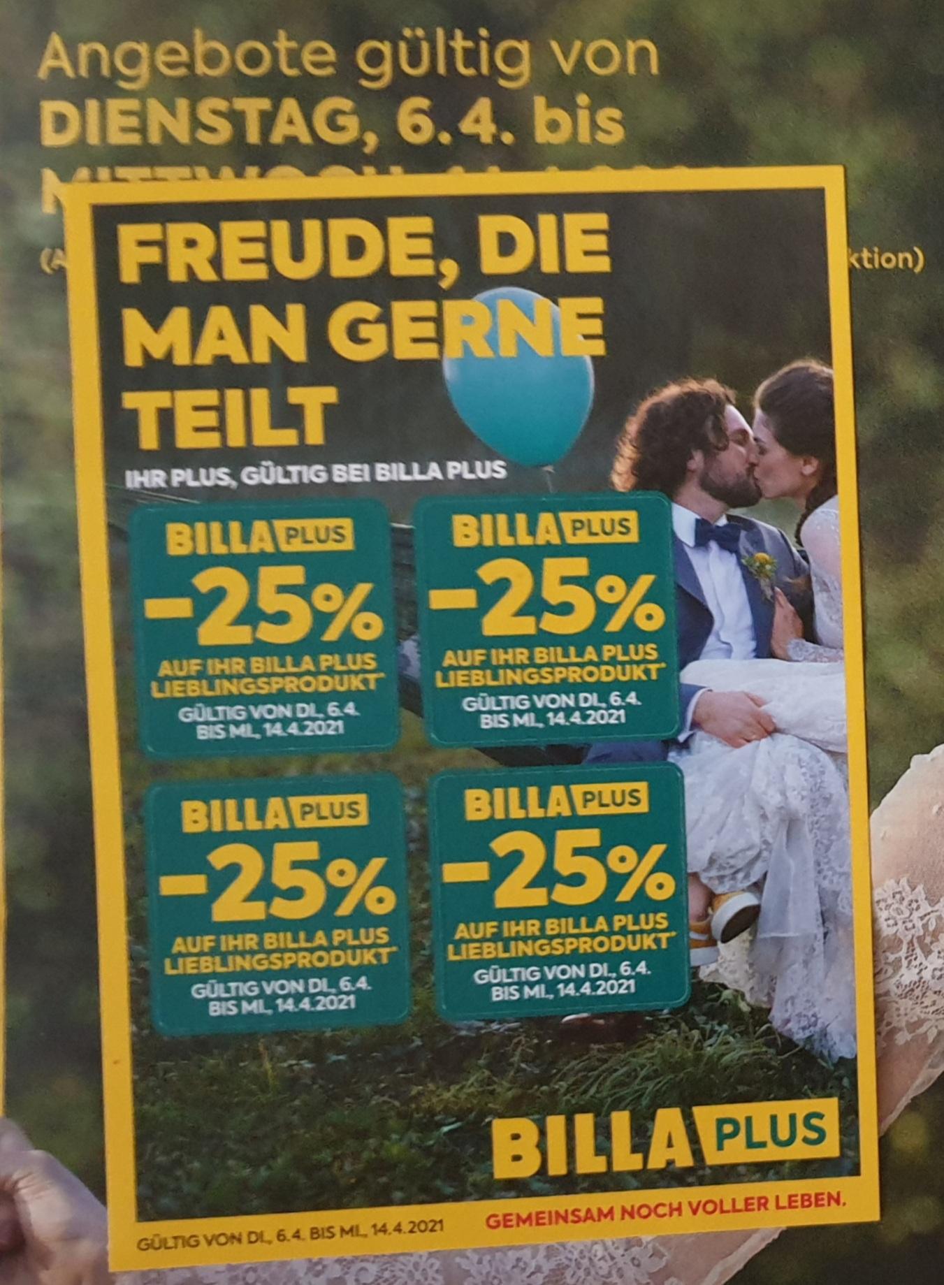 BILLA & BILLA PLUS 25% Rabatt Pickerl von 06.04.2021 bis 14.04.2021 als Beilage in der heutigen Sonntags Kronen Zeitung