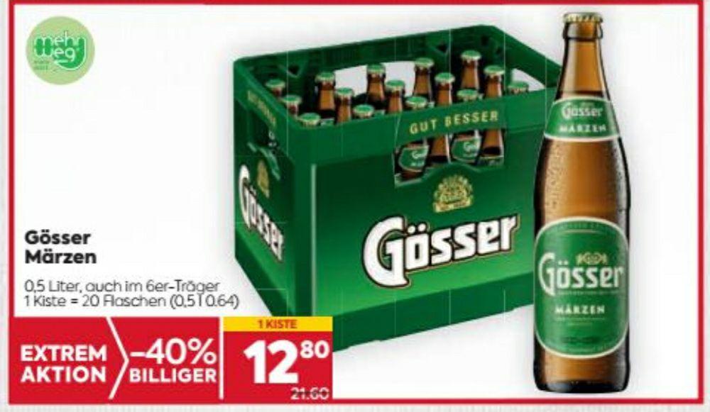 Gösser Märzen Kiste beim Billa/Billa Plus um € 12.80
