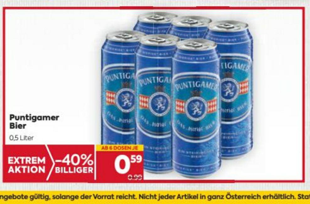 Puntigamer Dosenbier beim BILLA um 0.59€ ab 6 Stück