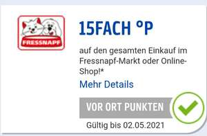 15 FACH PAYBACK Punkte bei Fressnapf