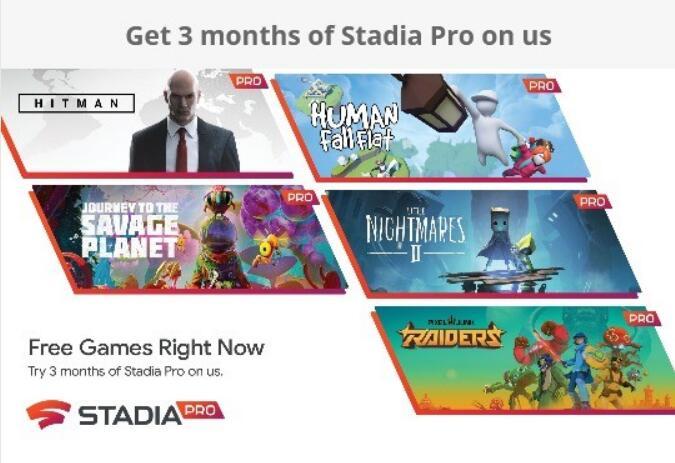 3 Monate Google Stadia Pro gratis, 27 Spiele beanspruchen: Resident Evil 7, Little Nightmares II, Hitman, ... (Wie es geht - siehe Text)