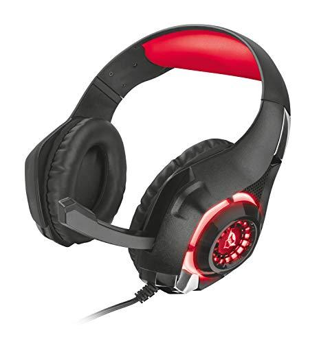Trust GXT 313 Nero Gaming Headset / Kopfhörer (mit Mikrofon und LED-Beleuchtung