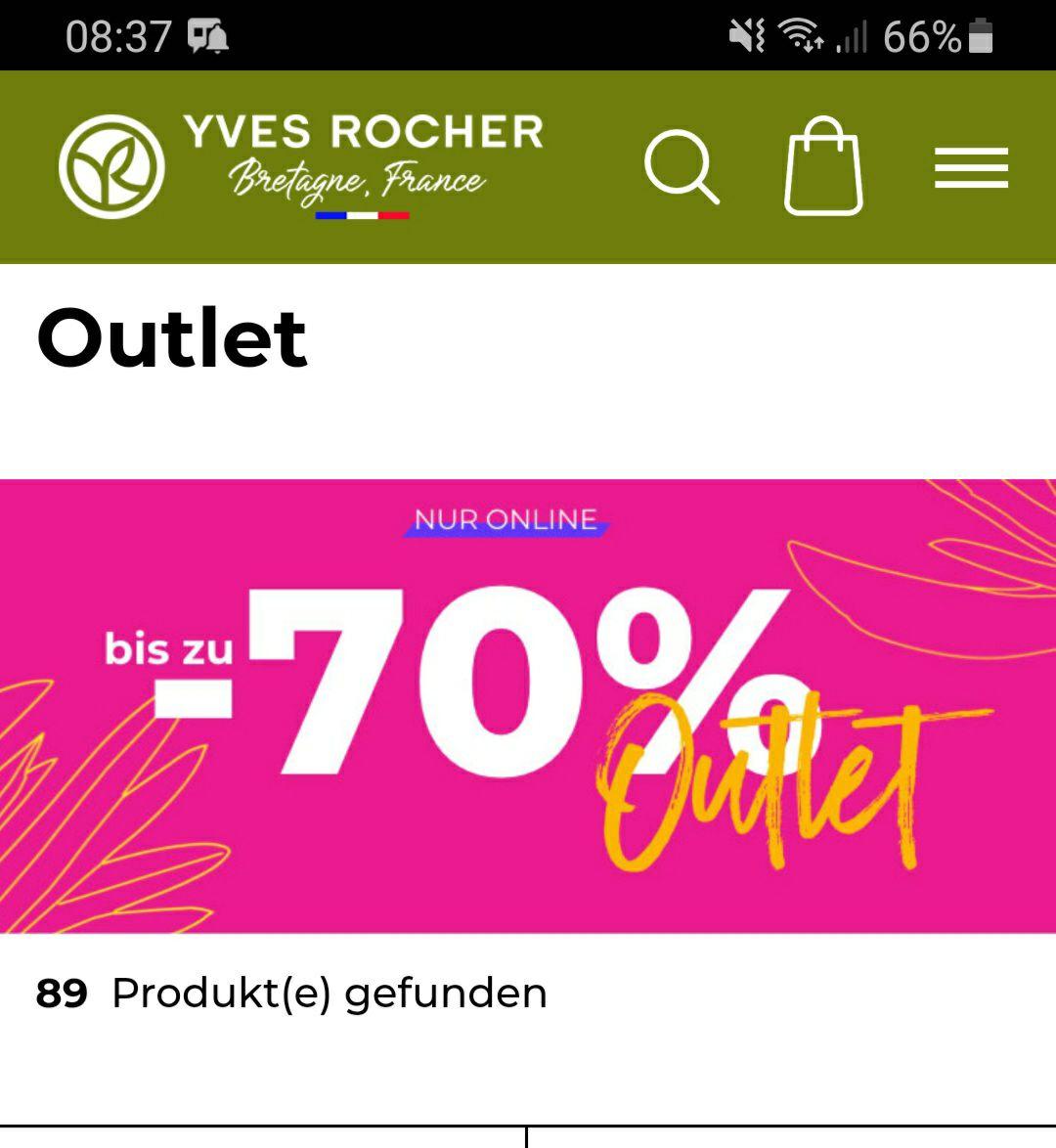 Bis zu -70% Outlet bei Yves Rocher