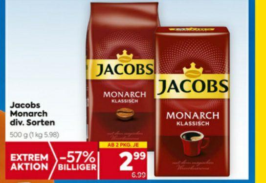 JACOBS MONARCH bei Billa/Plus um € 2.99 ab 2Pkg.